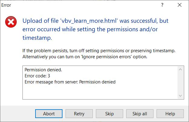 WinSCP time error