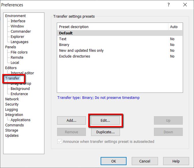 WinSCP time error - step 2