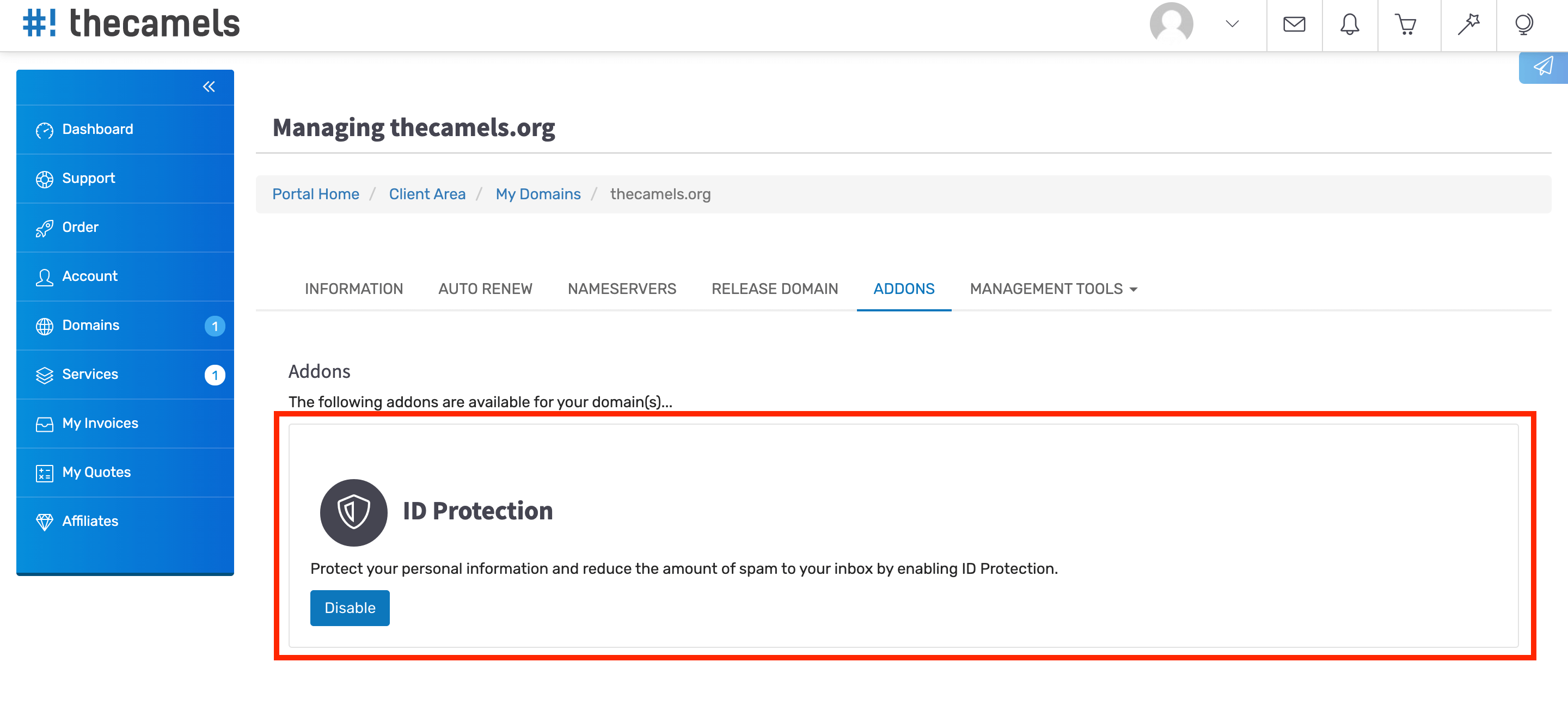 How to enable WHOIS data protection - step 5