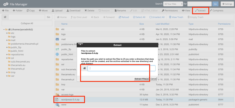 WordPressa installation - step 3