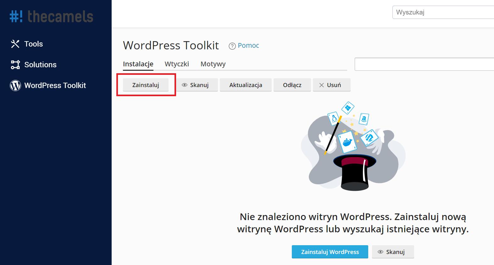 Automtyczna instalacja WordPressa - krok 2