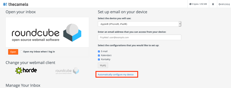 Mail na macOS - autokonfiguracja - krok 1