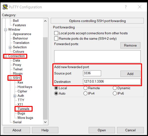 Jak zestawić tunel SSH - krok 1