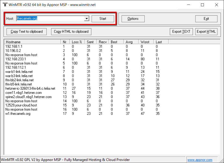 Jak korzystać z WinMTR?